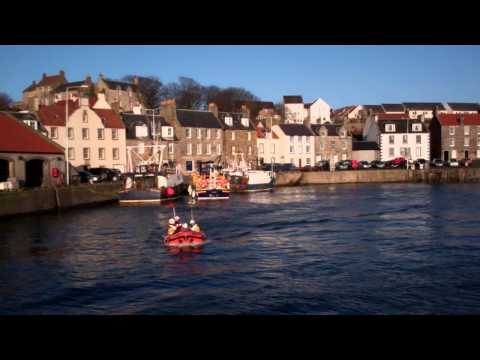 Anstruther Lifeboats Pittenweem Harbour East Neuk Of Fife Scotland January 7th