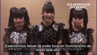 [Sub Español] Mensaje de BABYMETAL a los fans del SUMMERSONIC festival 2017