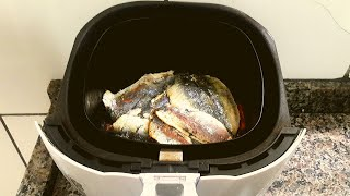 Sardinha com pouco óleo na Air Fryer