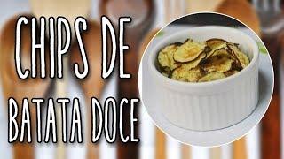 #95 - CHIPS DE BATATA NO MICRO-ONDAS - Sweet and English Potato Chips - Receita de Mão