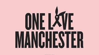 Ariana Grande, Justin Bieber, Miley Cyrus y Katy Perry en One Love Manchester