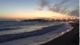 Por do sol na praia de Santo Amaro de Oeiras