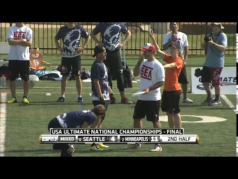 Video Thumbnail: 2014 National Championships, Mixed Final: Seattle Mixtape vs. Minneapolis Drag'n Thrust