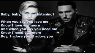 Miley Cyrus ft Cedric Gervais   Adore You Cedric Gervais Remix LYRICS