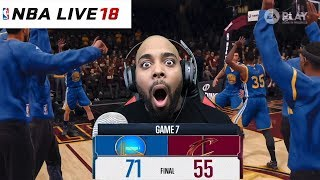 NBA LIVE 18 Gameplay - Warriors vs Cavaliers Full Game Highlights - Finals Game 7 REACTION!