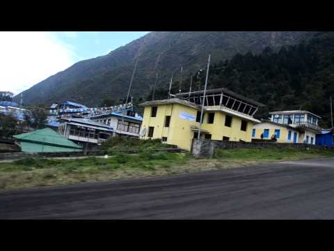 Landing to Lukla Airport, Everest Region, Nepal