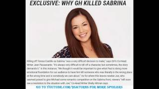 GH SABRINA's DEATH INTERVIEW General Hospital Michael Joe Paul Preview Promo 9-19-16 9-16-16