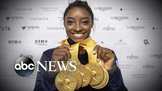 Simone Biles makes history at world championships | ABC News