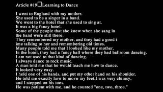 Learn Listening English U2 - Lession 19 Learning to Dance