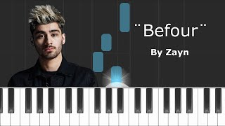 "Zayn - ""Befour"" Piano Tutorial - Chords - How To Play - Cover"