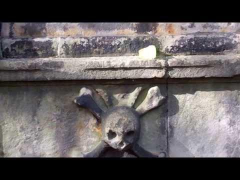 Skeleton Gravestone Greyfriars Kirkyard Edinburgh Scotland
