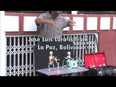 Bone Man of Bolivia Plays in Otavalo Ecuador