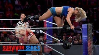 Charlotte Flair brutally powerbombs Alexa Bliss: Survivor Series 2017 (WWE Network Exclusive)
