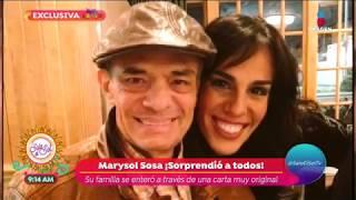 ¡Marysol Sosa próximamente hará abuelo a José José! | Sale el Sol