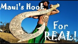I Make Maui's Hook For Real, And It GLOWS IN THE DARK! Disney's Moana