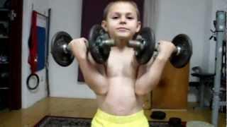 Kids workout biceps