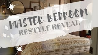 OUR MASTER BEDROOM BOHO CHIC RESTYLE & REVEAL | WHITE & COZY