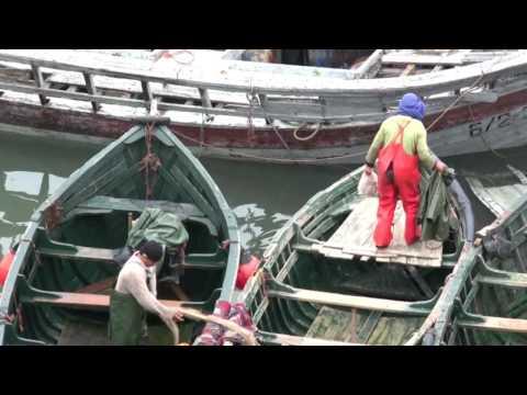 Fishermen in El Jadida, Morocco