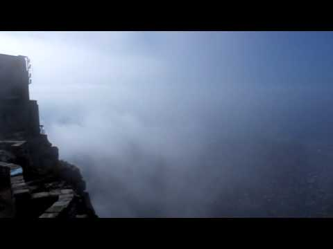 Clouds rolling in on top of Table Mountain