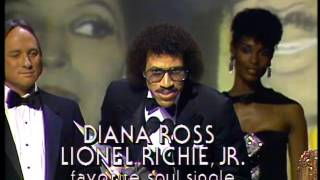Diana Ross and Lionel Richie Win Soul Single - AMA 1982