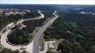 Winding Road to Oasis Restaurant in Austin, TX