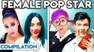 FEMALE POP STARS WITH ZERO BUDGET! (BEST OF ARIANA GRANDE, BILLIE EILISH, & MORE BY LANKYBOX)