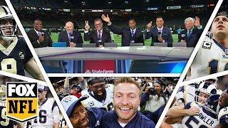 FOX NFL crew break down Rams, Saints 2019 NFC Championship Game | FOX NFL
