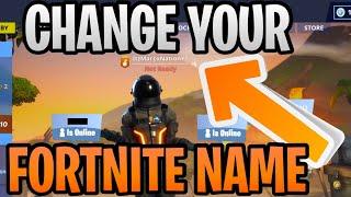 Fortnite Name Change Videos Infinitube - updated how to change your fortnite display name gamertag season 8 for