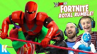 Fortnite in WWE 2k19 (Royal Rumble Match with Season 8 Skins) KIDCITY GAMING