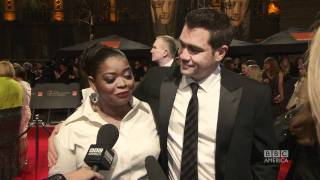 At the Baftas with Daniel Radcliffe and Jonah Hill: The Britlst
