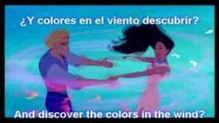 """Colors of the Wind""- Latin Spanish W/ Subs. and Trans."