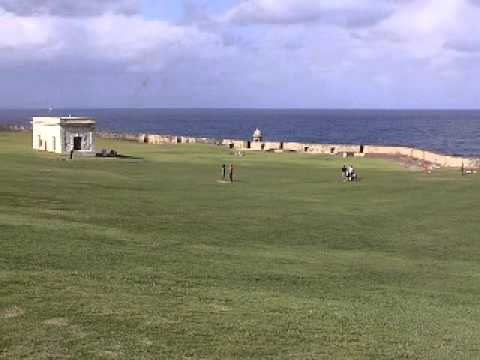 El Morro flying kites in Puerto Rico