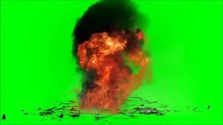 Chroma-key - explosão + Fogo é fumaça
