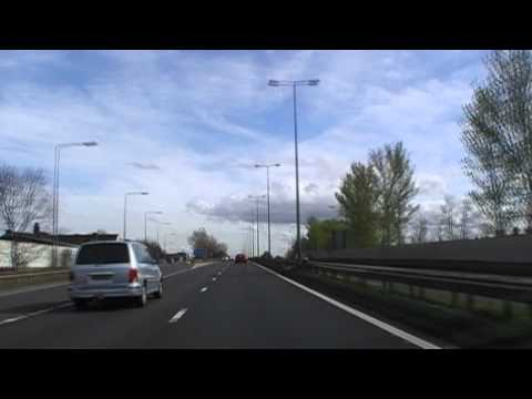 Driving Along The M53 & M56 Motorways From Wallasey To Elton, England 2nd April 2011