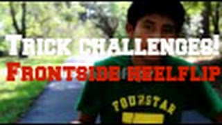 Trick challenges: frontside heelflips