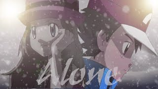 Alone - Amourshipping AMV Ash and Serena Pokemon