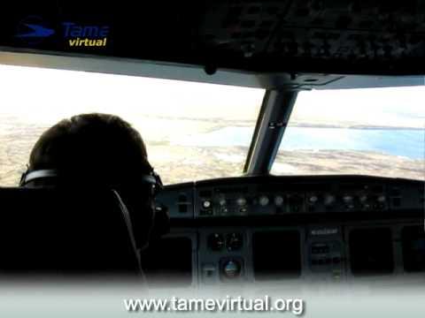 Flight Guayaquil Galápagos (Baltra) Ecuador Airbus 320 Tame