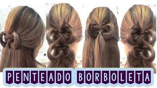 Hair Tutorial: Como Fazer Penteado Borboleta - Butterfly Hairstyle - Roxachic