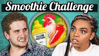 SMOOTHIE CHALLENGE!!! (Gross Ingredients) | College Kids Vs. Food width=