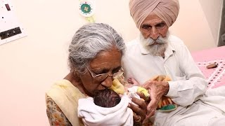 How Old?! Indian Woman In Her 70s Becomes First-Time Mother width=