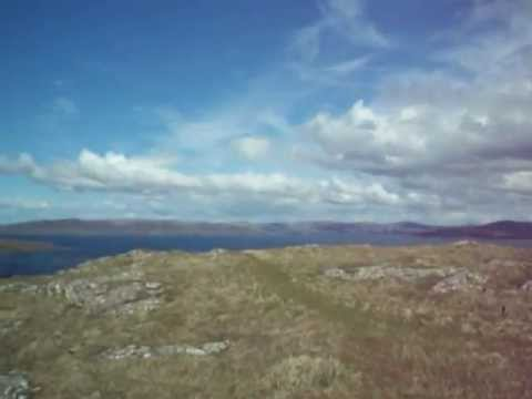 Summit Panorama Lunga Treshnish Islands Scotland.AVI