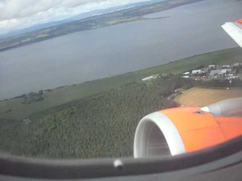 easyjet a319 inverness take off