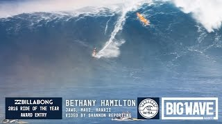 Bethany Hamilton at Jaws - 2016 Billabong Ride of the Year Entry - WSL Big Wave Awards