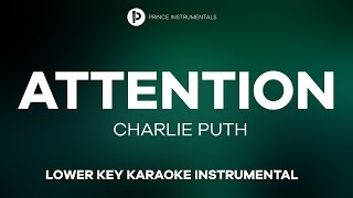 Charlie Puth - Attention [ Lower Key Instrumental Karaoke ]