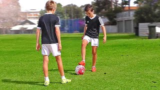 TOP 4 - Easy Football Skills for Kids & Beginner - Tutorial