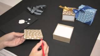 DIY Polka Dot effect for Gift Boxes