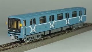 обзор масштабная модель железная дорога № 62/93 вагон метро 81-717 1:87 (parovoziki.ru) modelling