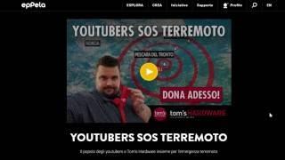 YOUTUBER SOS TERREMOTO + Live Stasera