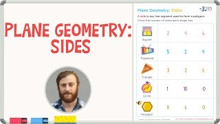 Geometry for 1st and 2nd Grade - Plane Geometry: Sides - Kids Academy
