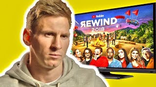 MESSI REACTS TO YOUTUBE REWIND 2018!!